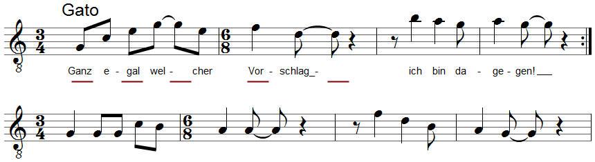 achtelnoten mit balken rhythmus