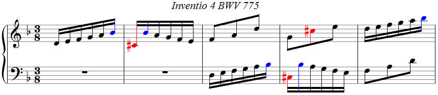 Bach, Invention 4